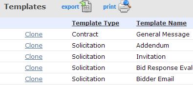 RFI/RFP/RFQ templates