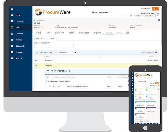e-bidding software, e-procurement, sourcing